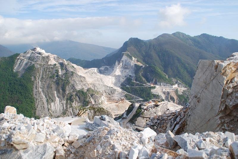 12 Carrara Marmor Steinbruch